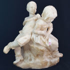 Marble satue of boy and girl