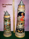 24 inch tall German stein