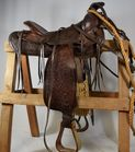 Lot 97A: Vintage tool brown leather