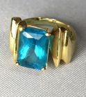 Blue/Turquoise topaz ring