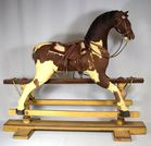 Lot 7: Antique Child's rocking horse
