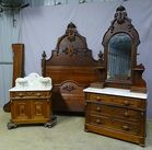 Walnut Victorian Bedroom Set