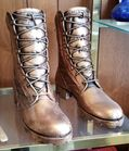 Bronzed Army Boots