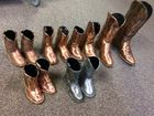 Bronzed Pewter Cowboy Boots
