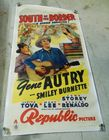"Lot# 166 - Large Movie Poster ""South of"