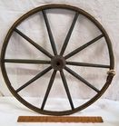 SMALL WOODEN WAGON WHEEL
