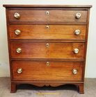 19th c WALNUT FOUR DRAWER CHEST