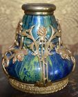 Sm pottery vase with ormolu