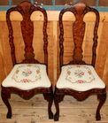 Inlaid Queen Anne Style Chairs