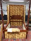Lot 80A: Mahogany High Poster Bed
