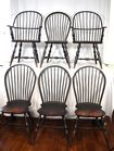 Lot 61: Lawrence Crouse windsor chairs