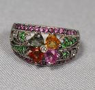 Lot 88: Gold & Multi stone ring
