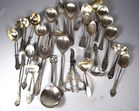 Lot 52A: Assorted silver serving pieces
