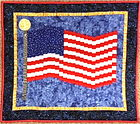 Flag Wall Hanging, quilted