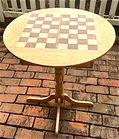 Hand made inlaid checkerboard table