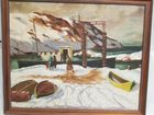 Lot 84A M Wolfe  WPA painting