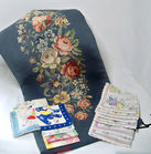 Needlepoint Seat Cover, Hankies