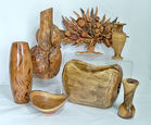 Artisan Turned Wood Vases