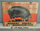 2 Sided Poland China Hogs Sign 27 X 20