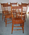 Set of 6 Spindle Back Chairs