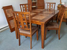 Table W/4 Chairs, Tile Inset