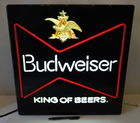 "18"" Square Budweiser Light Up Sign"