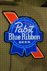LIGHTED PABST BLUE RIBBON BEER SIGN