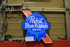 lighted commercial grade pabst sign