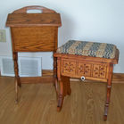 Shoe Shine Stool, Sewing Stand