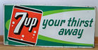 Metal Embossed 7Up Sign