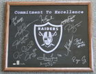 21 X 17 Raiders Legends Sign'd By 13