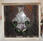 HUGE ANTIQUE STAINED GLASS WINDOW
