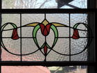 EARLY STAINED GLASS WINDOW