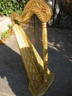 Gold decorative instrument