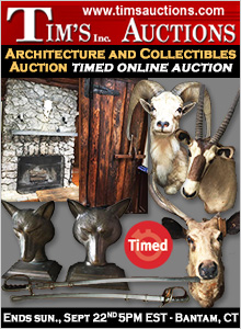 Architecture and Collectibles Auction - 09/22 - DO NOT BILL