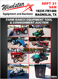 SS:Farm Ranch Equipment Tool &amp Consignment Auction - 09/21